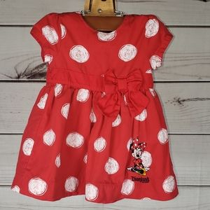 Disney• 9mth dress Minnie Mouse polka-dot swirls